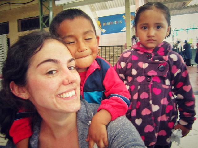 Playing with children at Perpetuo Soccoro