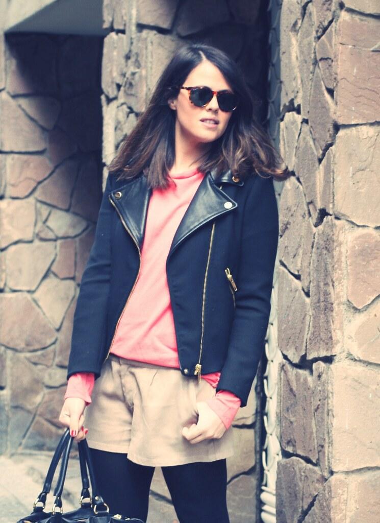 Look short beige + jersey fucsia - monicositas