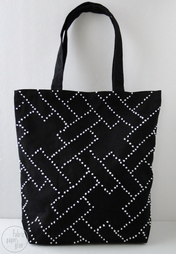DIY Embroidered Tote