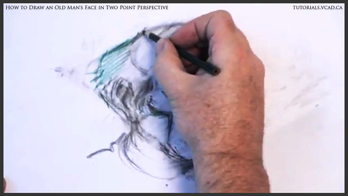 learn how to draw an old man's face in two point perspective 029