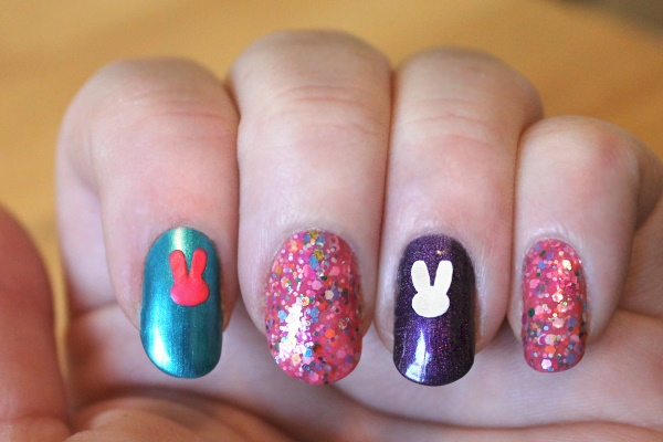 Peeps Nail Art Tutorial, 3