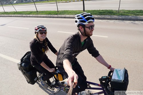 Tandem bicycle touring travel