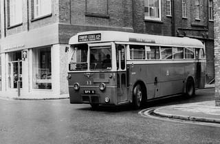 BPV 11, Ipswich AEC Regal IV single deck bus 11, Peel Street.