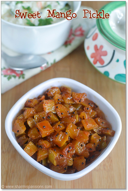 Instant Sweet Mango Pickle Recipe