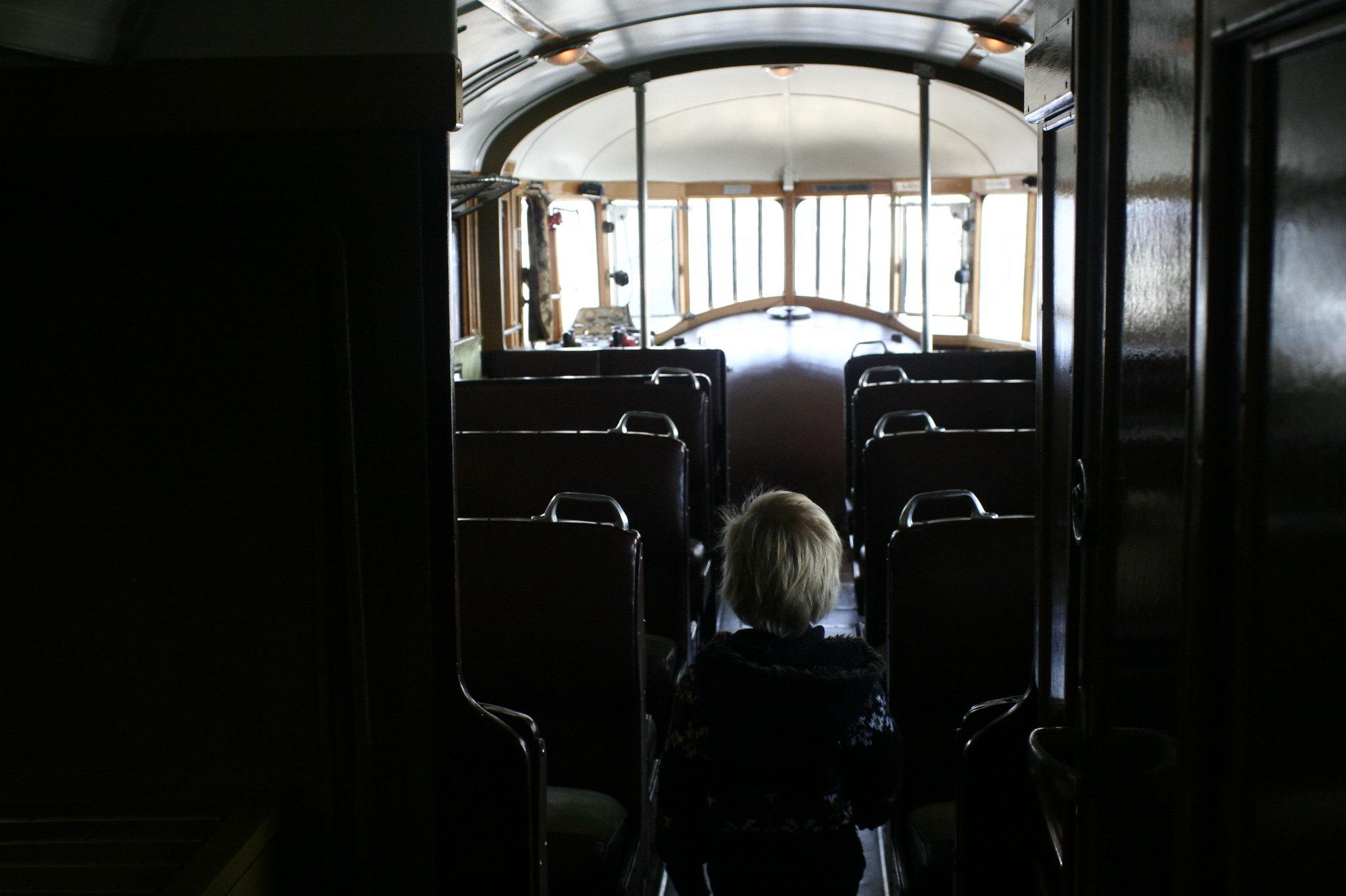 Anton inside the Fiat Littorina