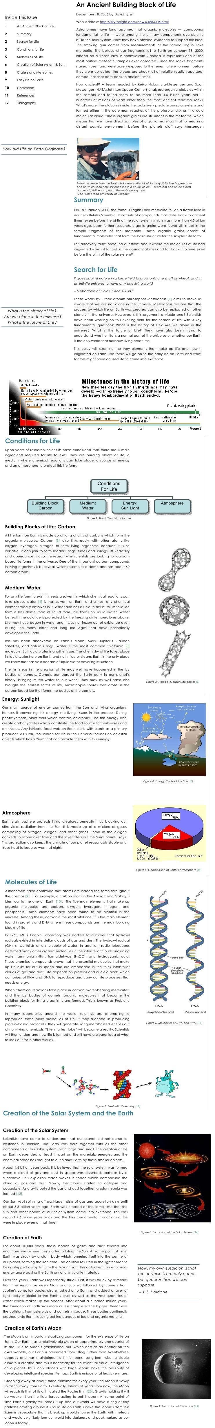 DTU Notes - 1 Sem Environmental - Origin and evolution of earth