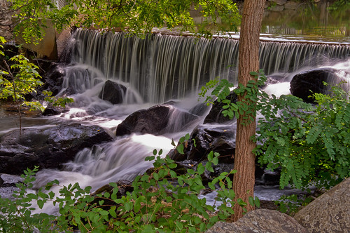 summer river waterfall camden maine newengland megunticook