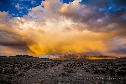 light sunset mountain black rain last landscape shower long exposure desert nevada nv mtn hdr yerington