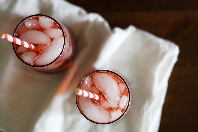 cherry sake cocktails