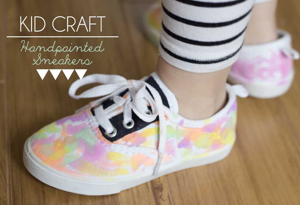 Kid craft: handpainted sneakers