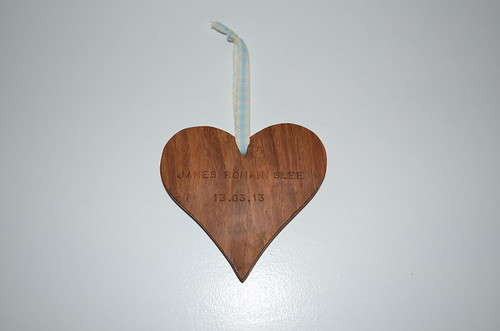 Engraved wooden heart from sewjustinesew