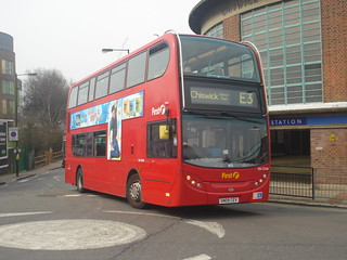 First DN33586 on Route E3, Chiswick Park Station