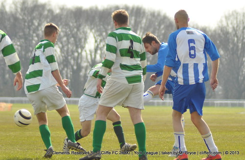 Cliffe FC 2ndXI 2 - 5 St Clements Reserves 20Apr13