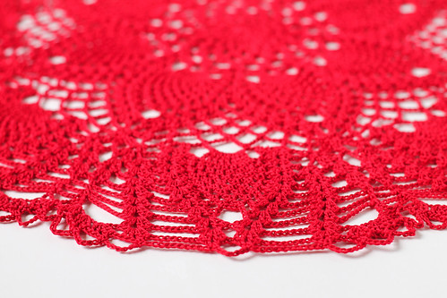 Red Large Pineapple Doily