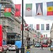 Regent Street and the Olympic flags