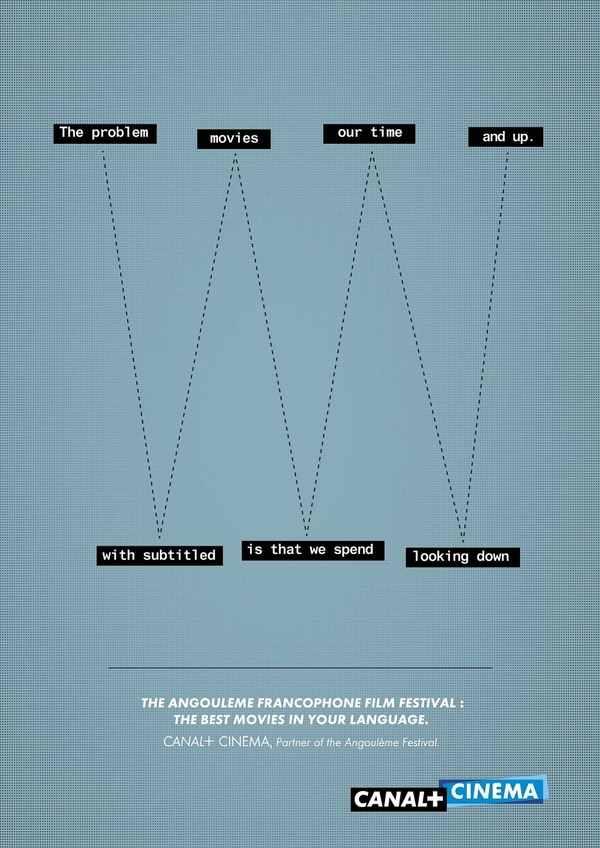 Campaña de publicidad sobre películas subtituladas