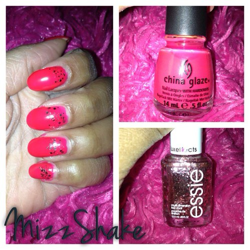 Just finished painting my nails. #instagood #instadaily #nailpolishjunkie #chinaglaze #livelovelaugh #essie #luxeffects #acutabove