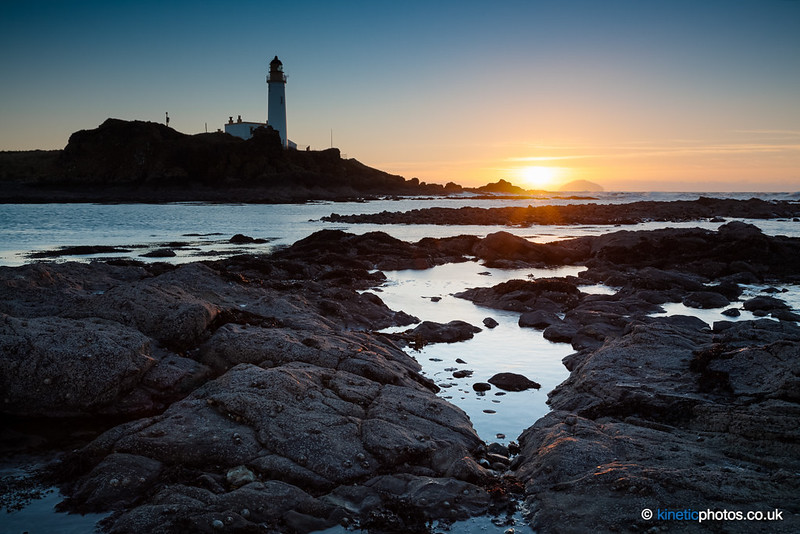 Turnberry Lighthouse at sunset [IMG_9115-16_Manual]