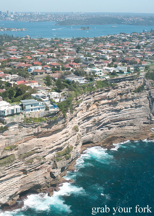 Bondi Helicopter flight aerial view over Dover Heights, Sydney