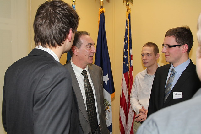 Ambassador Levine Meets Youth from Young Diplomats School, February 8, 2013