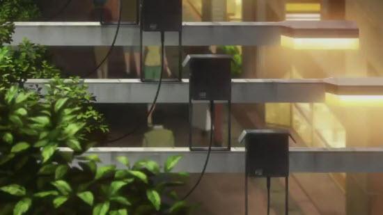 街なかの頭上の装置