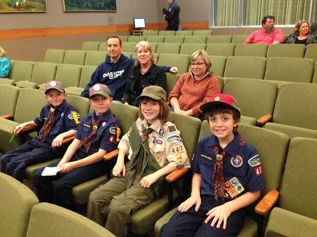 2013 Boy Scouts at City Hall