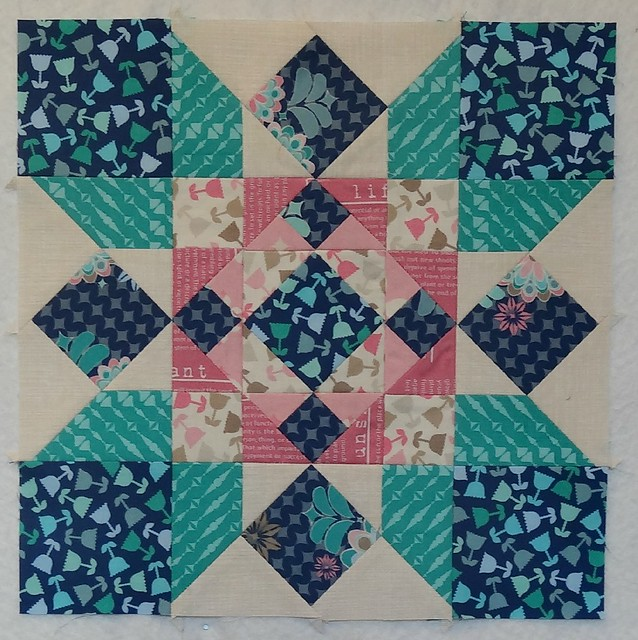 Heavy Cross - Aurifil BOM February Block