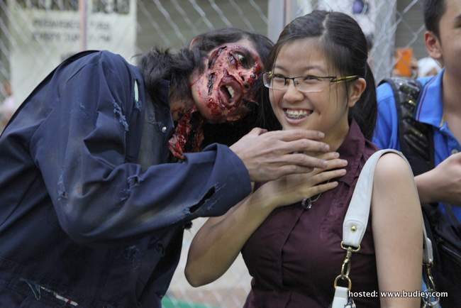Zombies posing with the audience #3
