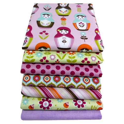 Little Matryoshka for Friday's Fabric Giveaway with Moona Fabrics!