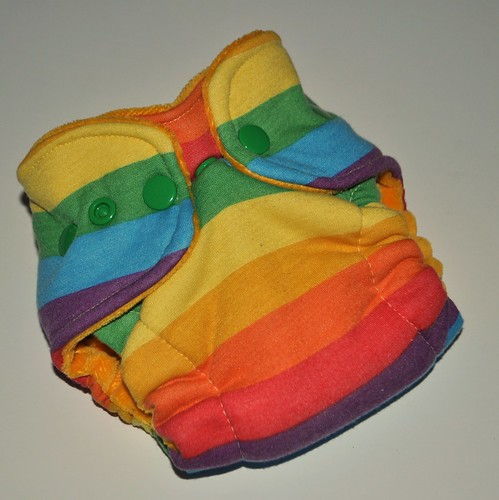 Bumstoppers Newborn   Rainbow Hybird Fitted **New Style**