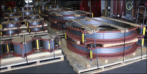 "84"" Dia. Single Expansion Joints Custom Designed for a Pipe Line in an Utility Plant"