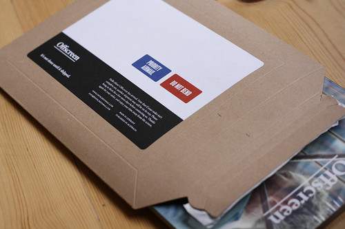 Offscreen packaging & shipping labels