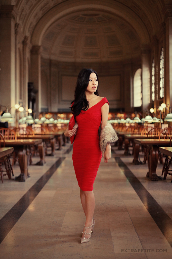 asos red dress boston public library2