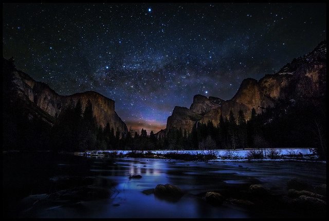 Milky Way at Dawn in Yosemite Valley