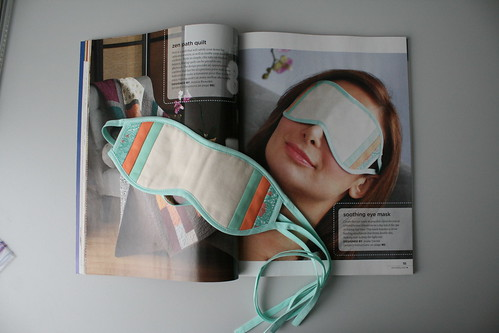 Eye mask in Stitch Spring 2013