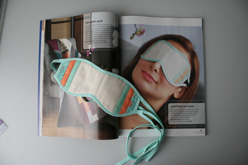Eye mask in Stitch Spring 2013