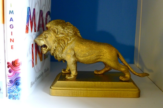 DIY Lion Bookend