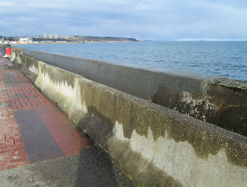New Concrete Top of Sea Wall, Kirkcaldy