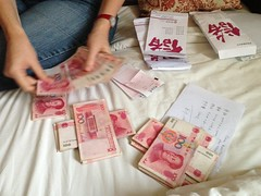 Counting stacks of chinese currency