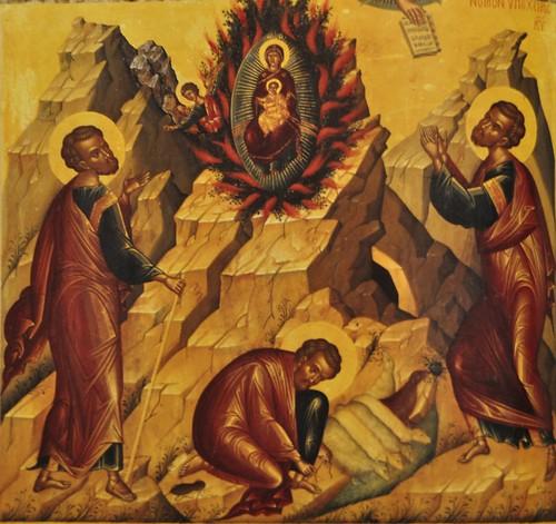 Burning Bush Theotokos And Moses Icon 16th Century Ted