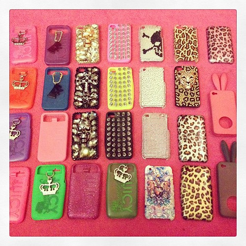 My Phone Cover Collection #phonecover #iphone #juicycouture #riverisland #bunny #rabito #studs #spike #edhardy #leopardprint #pink #iphone #iphone4s #iphonecover #diamante #skulls