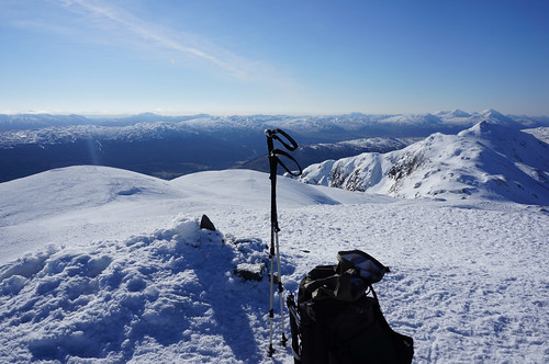 On the summit of Meall nan Tarmachan with Meall Garbh to the right