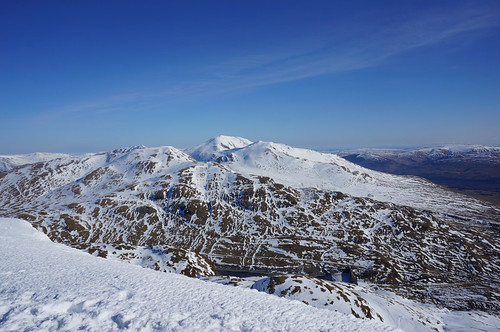 The Ben Lawers ridge from the summit of Meall nan Tarmachan