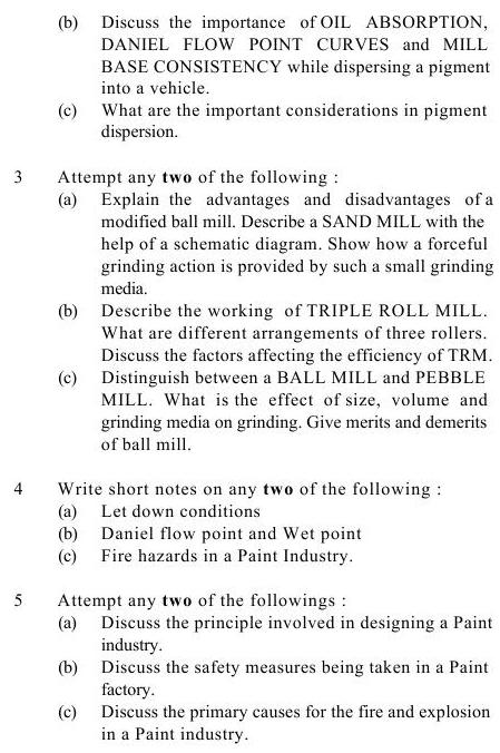 UPTU B.Tech Question Papers -TPT-601- Formulation & Manufacturing of Surface Coating