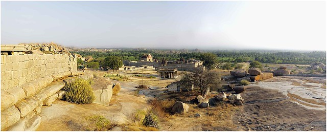Hampi, A panoromic view.