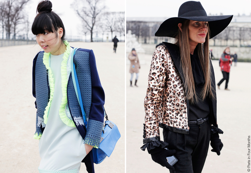Susie Bubble and Anna Dello Russo at Paris Fashion Week FW13 by Carin Olsson (Paris in Four Months)