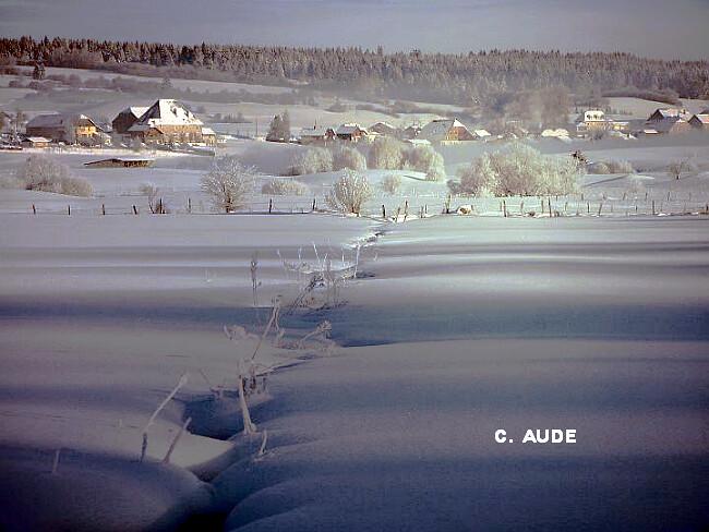 illustration du record mensuel absolu de froid le 4 mars 1965 à Mouthe météopassion