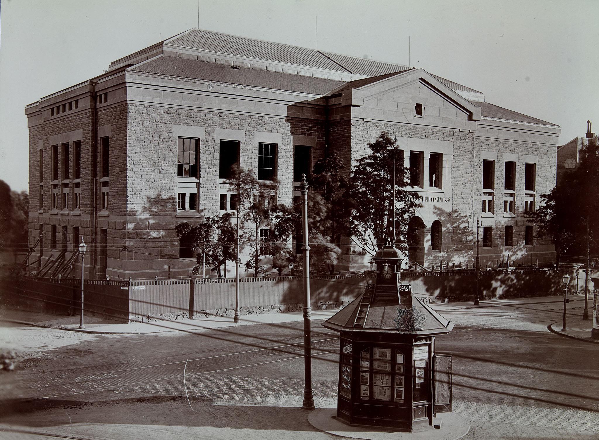 Universitetsbiblioteket i Oslo (i dag Nasjonalbiblioteket), 1913