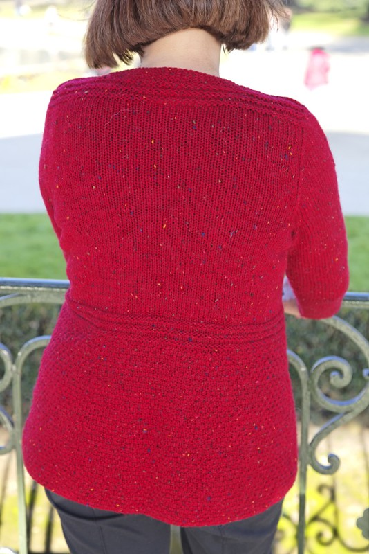 Cardi rouge Fonty Super tweed