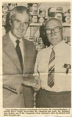 Lloyd Chapman 1981 retirement